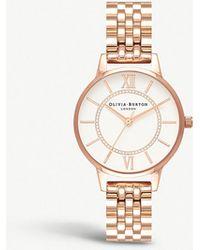 Olivia Burton - Wonderland Rose-gold Stainless-steel Quartz Watch - Lyst
