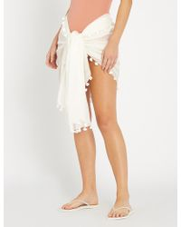4c86e6b4c43a77 Seafolly Embroidered Linen Blend Beach Cover Up in Black - Save 40% - Lyst