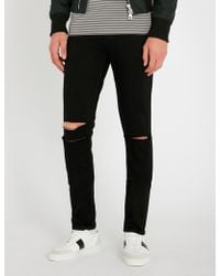PAIGE - Croft Slim-fit Ripped Skinny Jeans - Lyst