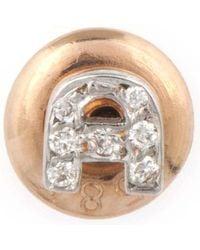 The Alkemistry - Kismet By Milka 14ct Rose-gold Diamond A Initial Stud Earrings - Lyst
