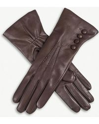Dents - 4-button Leather Gloves - Lyst