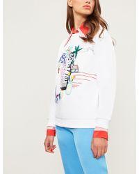 Mary Katrantzou - Pop-art Embroidered Cotton-jersey Sweatshirt - Lyst