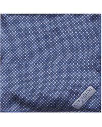 Corneliani - Circle-pattern Silk Pocket Square - Lyst