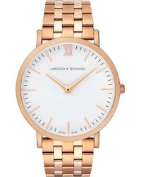 Larsson & Jennings - Lugano Vasa Rose-gold-plated Stainless Steel Bracelet Watch - Lyst