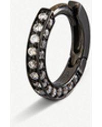 Repossi - Diamond-paved 18-ct Gold Hoop Earring - Lyst