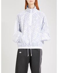 Alexander Wang - Logo-print Sports Mesh Shell Coat - Lyst