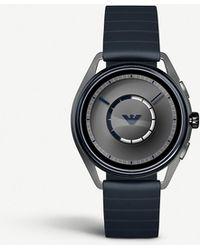 Emporio Armani - Matteo Blue Rubber Strap Touchscreen Smartwatch - Lyst