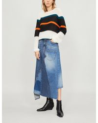 Loewe - Striped Mohair And Wool-blend Jumper - Lyst
