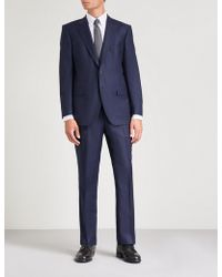Gieves & Hawkes - Tailored-fit Wool-flannel Suit - Lyst