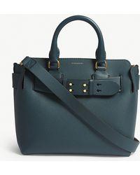 Burberry - Dark Cyan Blue Small Leather Belt Bag - Lyst