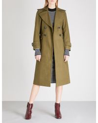 Mo&co. - Double-breasted Wool-blend Coat - Lyst