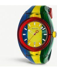 Gucci - Sync Xxl Resin Watch - Lyst