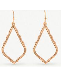 Kendra Scott - Sophia Rose-gold Plated Drop Earrings - Lyst