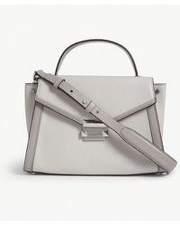 MICHAEL Michael Kors - Michael Kors Ladies Grey Whitney Leather Messenger Bag - Lyst