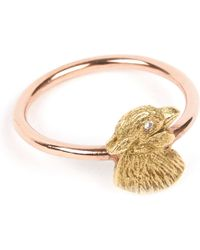 Annina Vogel - 9 Carat Rose Gold And Diamond Chick Ring - Lyst