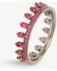 Annoushka - Crown 18ct White Gold And Ruby Ring - Lyst