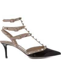 Valentino - So Noir 65 Patent-leather Heeled Sandals - Lyst