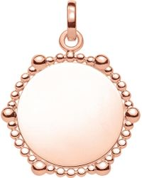 Thomas Sabo - Love Coin Dot Engraveable Heart Pendant - Lyst