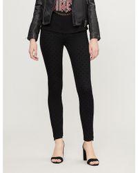Claudie Pierlot - Patiente Velvet Polka Dot Skinny High-rise Jeans - Lyst