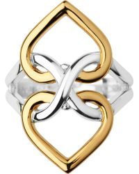 Links of London - Infinite Love 18ct Yellow-gold Vermeil And Sterling Silver Ring - Lyst