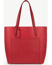 Smythson - Panama North South Leather Tote Bag - Lyst