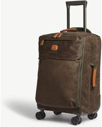 Bric's - Faux-suede Four-wheel Spinner Suitcase 55cm - Lyst