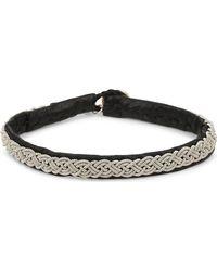 Maria Rudman | Pewter Thin Woven Bracelet | Lyst