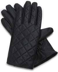 Sandro - Quilted Leather Gloves - Lyst