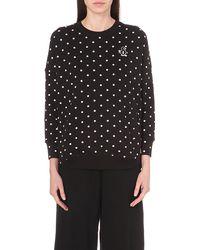Chocoolate - Polka-dot Cotton-jersey Sweatshirt - Lyst