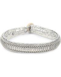 Maria Rudman | Pewter Woven Track Thread Bracelet | Lyst