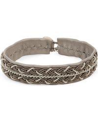Maria Rudman - Pewter Woven Bracelet - Lyst