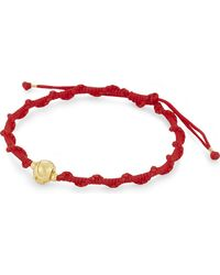 Black Dakini - Logo Bead Braided Bracelet - Lyst
