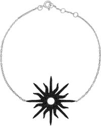 Christina Debs - Sunshine 18ct White-gold And Diamond Bracelet - Lyst