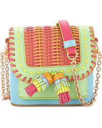 Sophia Webster | Claudie Tassel Woven Leather Crossbody Bag | Lyst