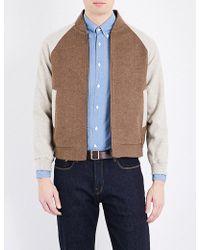 Tengri - Textured Yak Varsity Jacket - Lyst