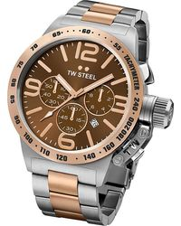 TW Steel - Cb153 Canteen Rose Gold Pvd-plated And Stainless Steel Chronograph Watch - Lyst
