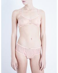 Daydream Nation | Nothing But Net Mesh Soft-cup Bra | Lyst
