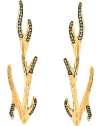 Christina Debs - Mother Nature 18ct Pink-gold And Diamond Earrings - Lyst