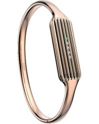 Fitbit - 2 Fitness Tracker Rose Gold-plated Large Bangle Accessory - Lyst