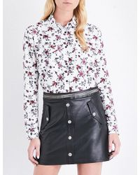 The Kooples Sport - Floral Loose-fit Cotton And Silk-blend Shirt - Lyst