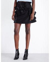Fyodor Golan - Bow-detailed Shimmering Skirt - Lyst