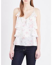 The Kooples - Floral-print Silk Camisole - Lyst