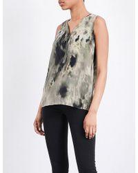 The Kooples Sport - Tie-dye Print Silk Top - Lyst
