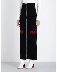 Hood By Air - Zip-detail Ribbed Jersey Skirt - Lyst