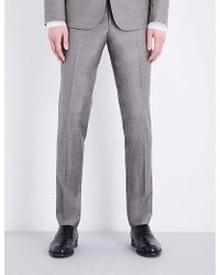 The Kooples - Sharkskin Slim-fit Tapered Wool Trousers - Lyst