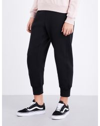 Izzue - Tapered Mid-rise Cotton-blend Jogging Bottom - Lyst