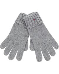 Tommy Hilfiger - Knitted Cotton-cashmere Gloves - Lyst