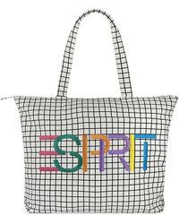 Opening Ceremony - Grid Check Large Cotton Canvas Tote - Lyst