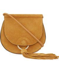 Mo&co. - Tassel Suede Cross-body Bag - Lyst
