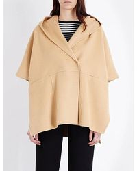 Mo&co. - Hooded Double-breasted Cape - Lyst